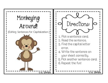 Monkey Business! (Capitalization)