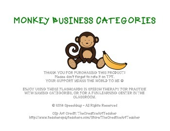 Monkey Business Categories