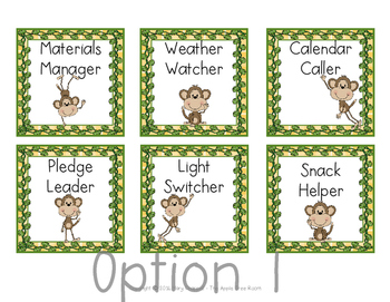 Classroom Jobs {Editable} Monkey Business