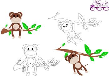Monkey Business Clip Art 14