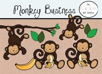Monkey Business - Digital Clipart