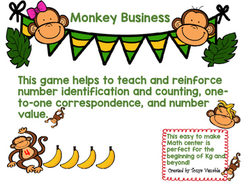 Monkey Business Number ID and Counting Game for Kg!