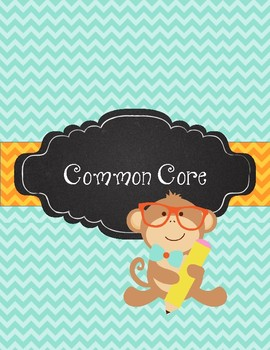 Monkey Business! Teal and Orange Chevron with Student Monkey Teacher Binder