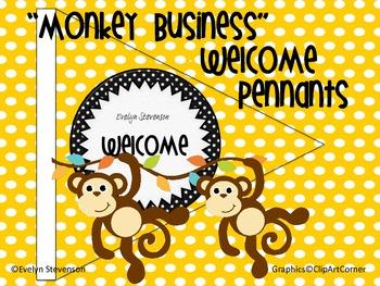 Monkey Business Welcome Pennants