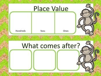 Monkey Calendar Routine Set
