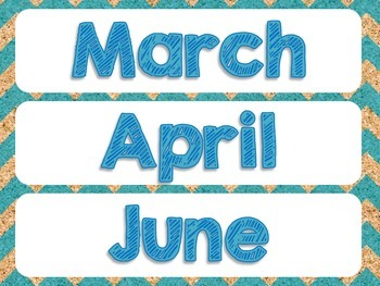Monkey Calendar Routine Set - Blue
