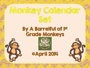 Monkey Calendar Routine Set - Yellow