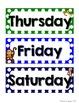 Monkey Calendar Set - Rainbow Polka Dot