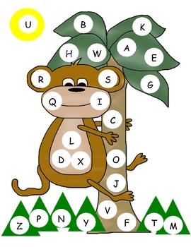 Monkey Capital Alphabet Mat