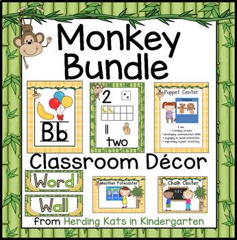Monkey Classroom Decor BUNDLE