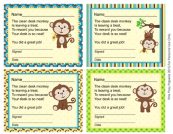 Monkey Clean Desk Awards