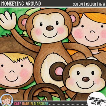 "Monkey Clip Art: ""Monkeying Around"""