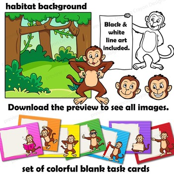 Monkey Clip Art with Signs