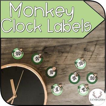Monkey Clock Labels