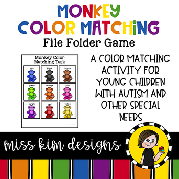 Monkey Color Matching Folder Game for Early Childhood Spec