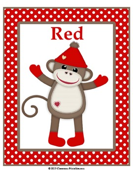 Sock Monkey Color Posters