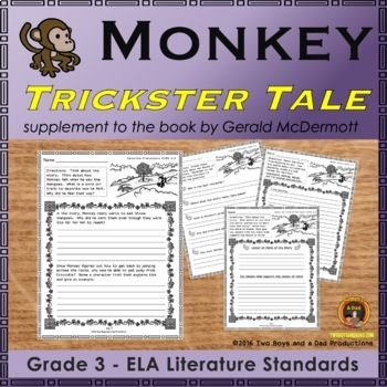 Monkey Trickster Tale from India Literature Standards Support Worksheets