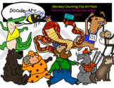 Monkey Counting Clipart Pack