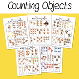 Monkey Counting Objects 1-10 Worksheets Math