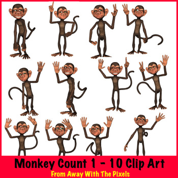 monkey counts 1 10 clip art ok for commercial use powerpoint rh teacherspayteachers com free clipart images commercial use free whale clipart commercial use
