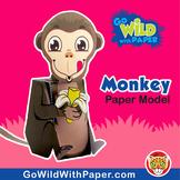 Monkey Craft Activity | 3D Paper Model
