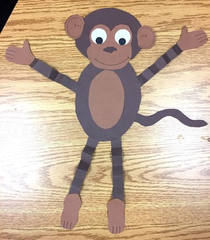 Monkey Craft {Cute Cut & Paste Craft}