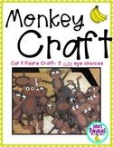 Monkey Craft {Cute Cut & Paste Craft}