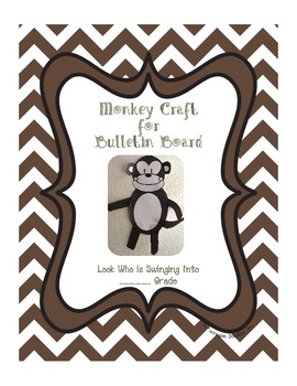 Monkey Craft for Back to School Bulletin Board