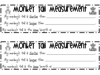 Monkey Craftivity {Non-standard Measurement and/or Summer Reading}