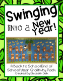 Swinging into a New Year! Back to School Monkey Craftivity Pack