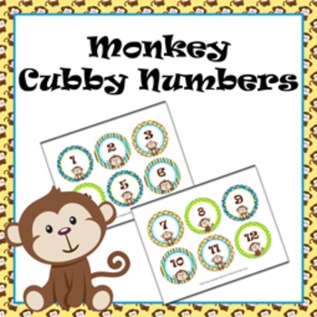 Monkey Cubby Number Labels 1-30