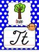 Monkey Cursive Alphabet Posters - Primary Polka Dot