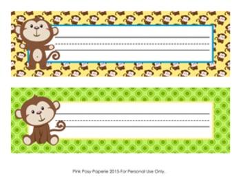 Monkey Desk Name Plates