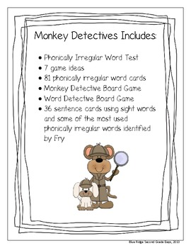 Monkey Detectives: On The Hunt For Irregular Phonetically Spelled Words