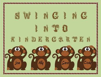 Monkey Door Decoration: Swinging into Kindergarten!