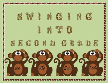 Monkey Door Decoration: Swinging into Second Grade!