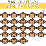 Monkey Faces Clipart by Bunny On A Cloud