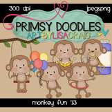 Monkey Fun 300 dpi clipart