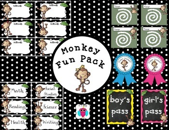 Monkey Fun Pack With Polka Dots
