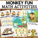 Monkey Fun Preschool Math Activities #tptgoesgold