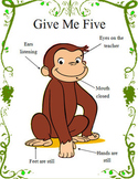 Monkey Give Me Five Behavioral Poster