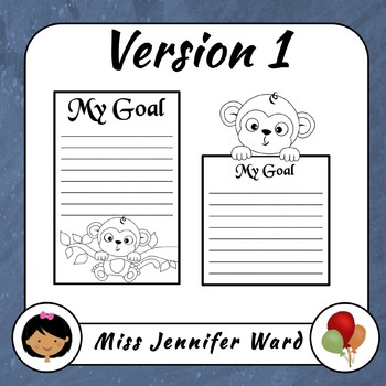 Monkey Goal and Message Paper (Blackline)