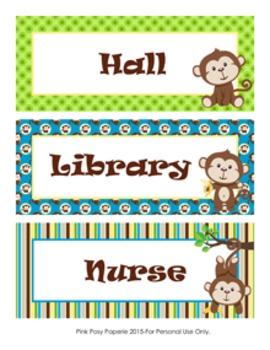 Monkey Hall Passes