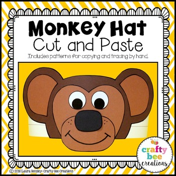 Monkey Hat Cut and Paste