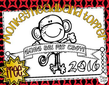 Monkey Headband Topper ** FREE **