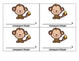 Monkey Homework Folder Label
