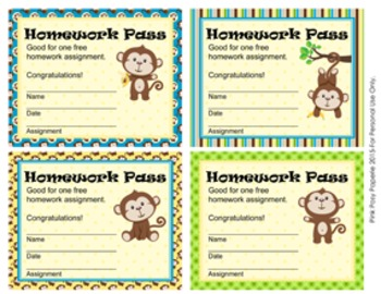 Monkey Homework Passes