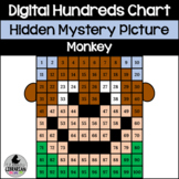 Monkey Hundreds Chart Hidden Picture Activity for Zoo Animal Math