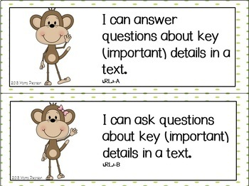 "Monkey ""I Can"" Statements"
