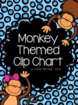 Monkey (Jungle) Themed Behavior Clip Chart